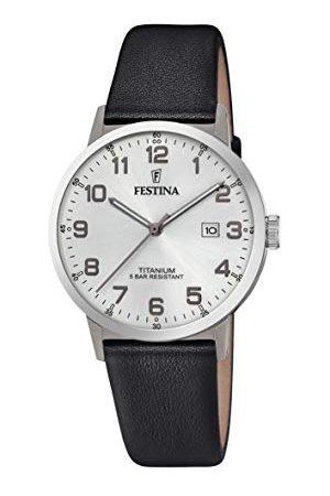 Festina Herr analog kvartsklocka med läderarmband F20471/1