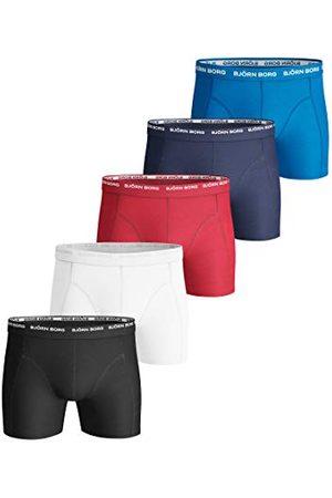 Björn Borg Solid Boxershorts för män underkläder bomull stretch 5 st