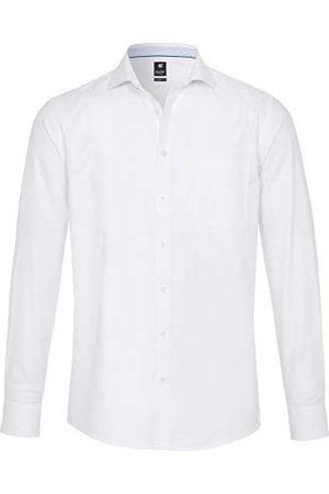 Pure Herr 4025-418 City Black långärmad klassisk skjorta, uni ljusblå, M
