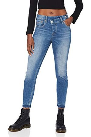 Herrlicher Dam labyrint slim cropped denim kashmir touch jeans