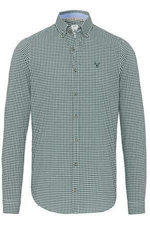 Pure Herr 5012-21284 Tracht Slim fit långärmad skjorta, karo ljusblå, XXL