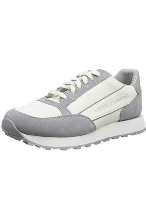 Armani Herr mocka Bicolor sneakers sneakers, Benvit svart40 EU