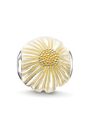 Thomas Sabo Dam-pärla tusensköna karma pärlor 925 sterling silver emaljerad silvergul K0200-007-4