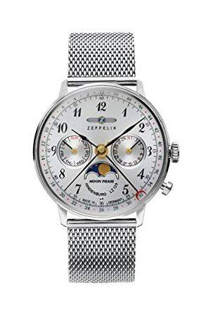 Zeppelin Unisex kronograf kvartsur med rostfritt stål armband 7037M-1