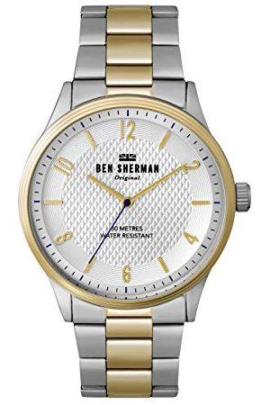 Ben Sherman Herr analog kvartsklocka med aluminiumarmband WB025SGM