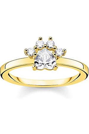 Thomas Sabo Kvinnor 925 Silver Kula Cubic Zirconia RingTR2289-414-60