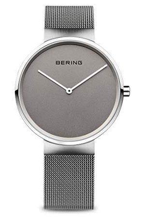 Bering Unisex armbandsur analog kvarts rostfritt stål armband 39 mm GRÅ