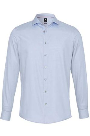Pure Herr 3380-498 City Black lång ärm klassisk skjorta, Uni ljusblå, M
