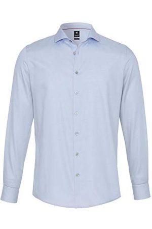 Pure Herr 3380-498 City Black lång ärm klassisk skjorta, Uni ljusblå, XXL