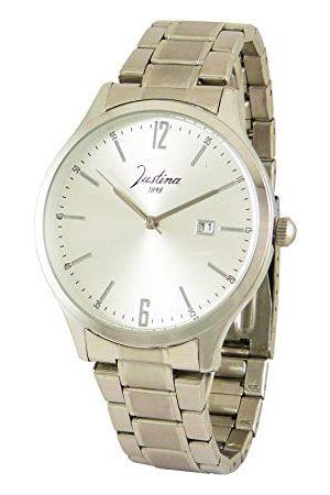 JUSTINA Herr analog kvartsklocka med rostfritt stål armband 11922P