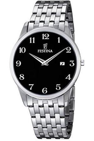 Festina Herr kvartsklocka med urtavla analog display och rostfritt stål armband F6833/4