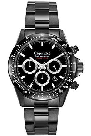 Gigandet Analog analog anloges kvartsur med rostfritt stål armband G33-003