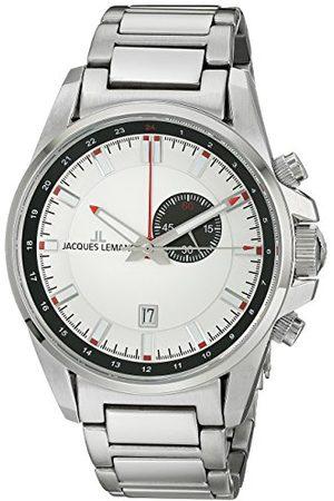 Jacques Lemans Mäns kronograf kvarts klocka med rostfritt stål armband 1-1653E