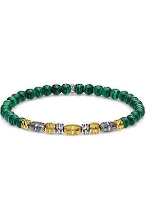 Thomas Sabo Unisexarmband Talisman bicolor grönt 925 sterlingsilver gulguld förgylld A1920-140-6-L19