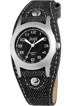 Just Watches Unisex-armbandsur analog kvarts textil 48-S0010-BK