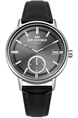 Ben Sherman Mäns datum klassisk kvarts klocka med läder armband WB071BB