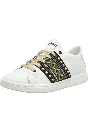 Desigual Damskor kosmisk exotisk guld sneaker, Blanco 1000-37 EU