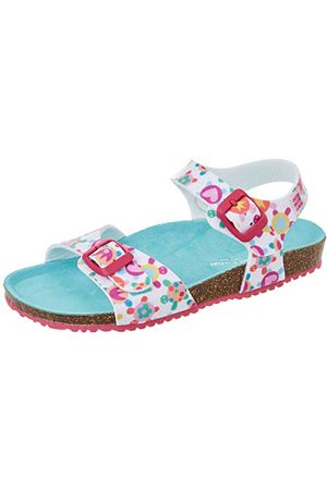 Agatha Ruiz de la Prada Flicka 212969-b sandal, Blanco Y Tortugas Matt Y stämpel - 25 EU