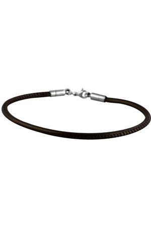 Akzent Unisex armband rostfritt stål läder 003400000024
