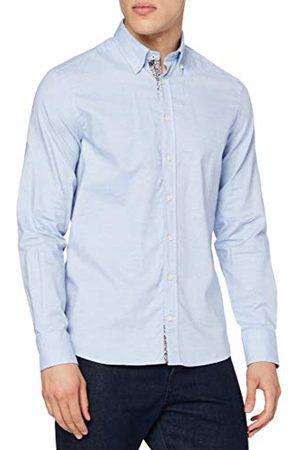 Hackett Herr Sky Mel Contrast Trim Shirt