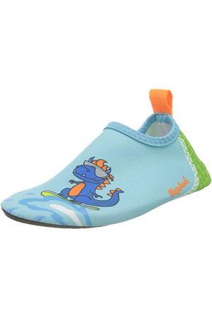 Playshoes Unisex barn barfota skor dino löparsko, grön24.5 EU