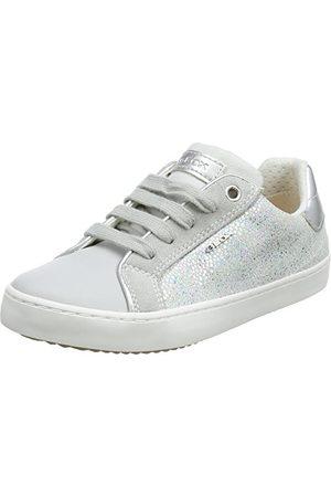 Geox Flicka J Kilwi J low-top sneaker, Lt Grey Silver35 EU
