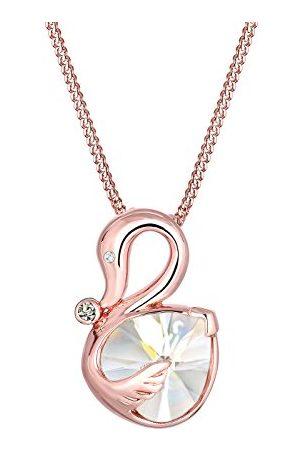 Elli Damhalsband med hängande svan 925 silver Swarovski kristall e silver, colore: Rödguld, cod. 0102231216_45