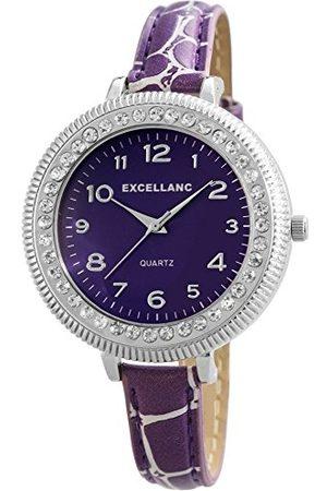 Excellanc Analog kvarts klocka med läderarmband 193023800421