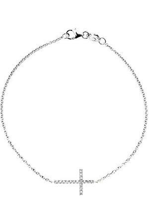 & You Armband kedja – vitguld 18 karat – vändbar – diamant 0,15 karat – 18 cm – am– Brac Cross 015 B