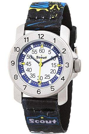 Scout Klockor pojkar analog kvartsklocka med textilband armband 1