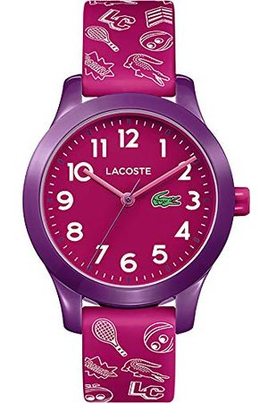 Lacoste Unisex-barn analog klassisk kvartsklocka med silikonrem 2030012