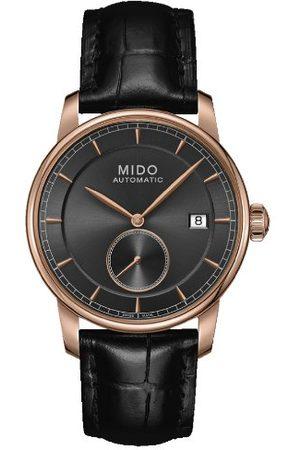MIDO Herr analog automatisk klocka med läderarmband M86083134
