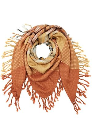 Pieces Dam PCPAULA SQUARE SCARF kuvertduk, (Copper Brown), One Size