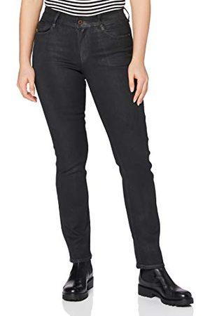 G-Star Dam Noxer marinblå hög midja raka jeans