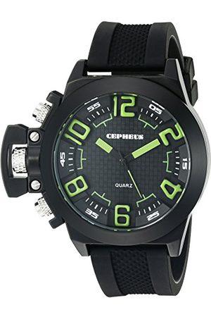 CEPHEUS Herr kvartsklocka med urtavla analog display och silikonrem CP901-622D