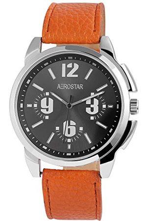 Aerostar Herr analog kvartsklocka med läderarmband 21102130006