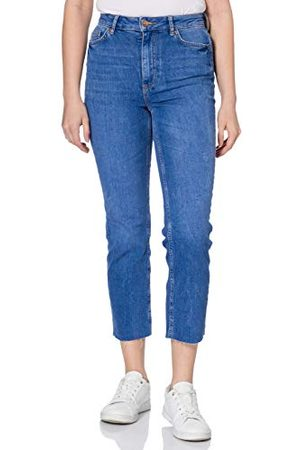 Pieces Kvinna Straight - Damer Pcdelly Hw Straight Electric Blue Bc jeans