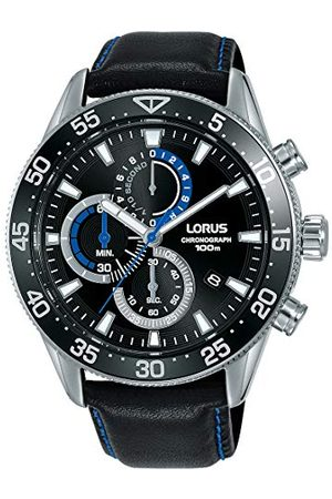 Lorus Sport herrklocka chronograph rostfritt stål med läderband RM343FX9