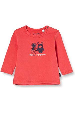 Sanetta Baby-pojkar pepperoni söt långärmad skjorta i mörkblå barnkläder med inter galactic design