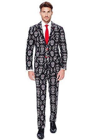 OppoSuits Herrar Halloween Suit för män i kreepy och snyggt tryck zombiac kostym