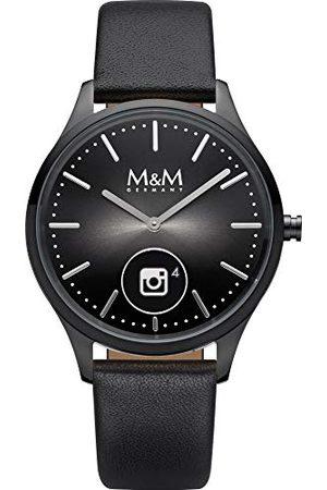 M&M Unisex vuxna analog digital kvartsklocka med läderarmband M12000-485