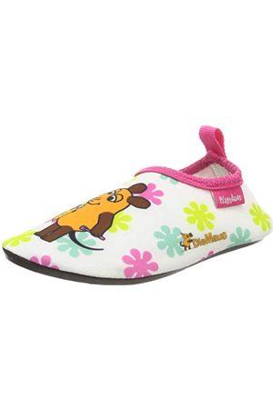 Playshoes Flickor badtofflor aqua-skor musen blommor, 586-18/19 EU