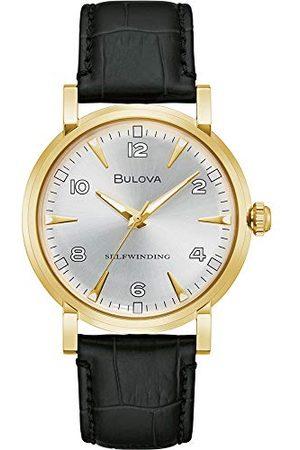 BULOVA Herr analog automatiskt klocka med läderrem 97A152