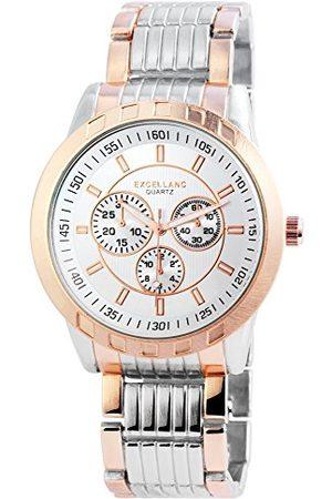 Excellanc Herr analog kvartsklocka med olika material armband 29514250006