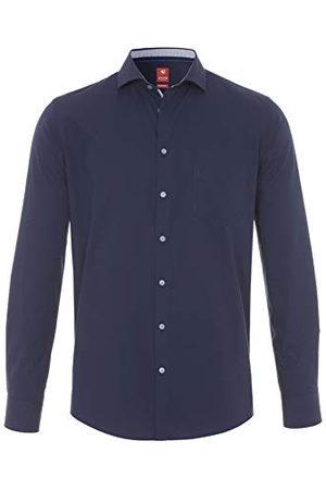 Pure Herr 4027-730 City Red långärmad klassisk skjorta, Uni Marine, XL