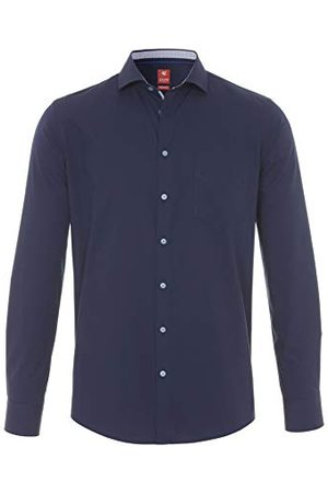 Pure Herr 4027-730 City Red långärmad klassisk skjorta, Uni Marine, XXL