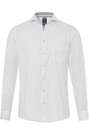 Pure Herr 4034-462 City Black lång ärm klassisk skjorta, Uni ljusblå, M