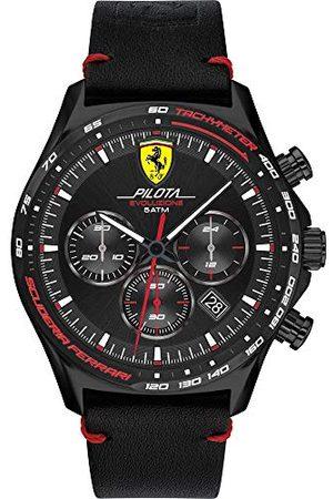 Scuderia Ferrari Herr analog kvartsklocka med läderrem 0830712
