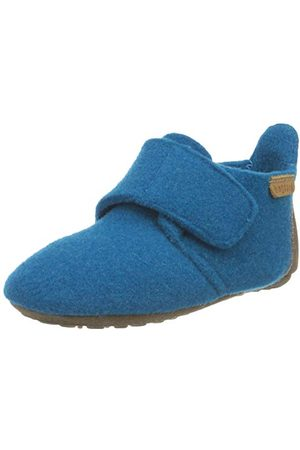 Bisgaard Unisex baby Wool First Walker Shoe,orion blå25 EU