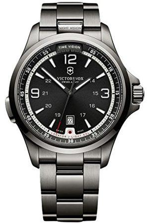 Victorinox Herr analog kvartsklocka med rostfritt stål belagt armband 241665